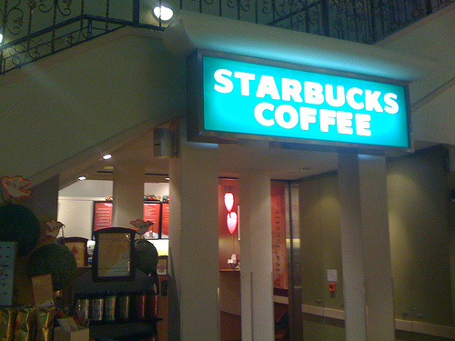 a starbucks in Hong Kong